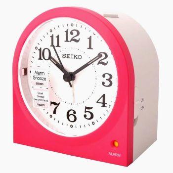 Seiko Quiet Sweep Alarm Pink Alarm Clock