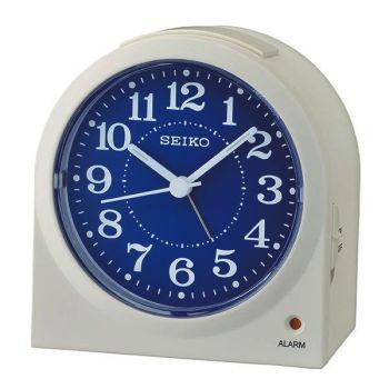 Seiko Quiet Sweep Blue Face Alarm Clock