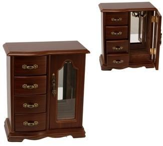 Large Wardrobe Jewel Box with Drawers