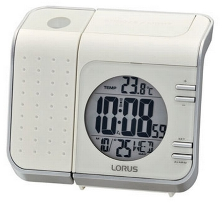 Lorus LHL029W Projection Alarm Clock