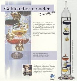 Quality Galileo Thermometer 28cm High