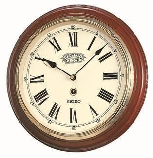 Seiko Wooden Station Wall Clock