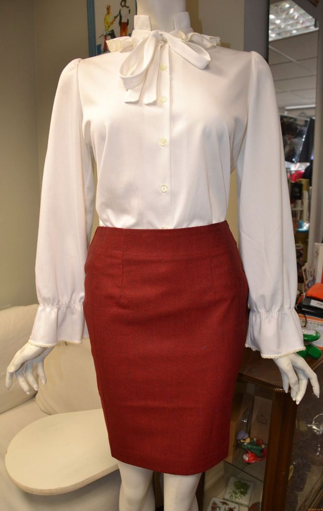 Burgundy Tonic Skirt