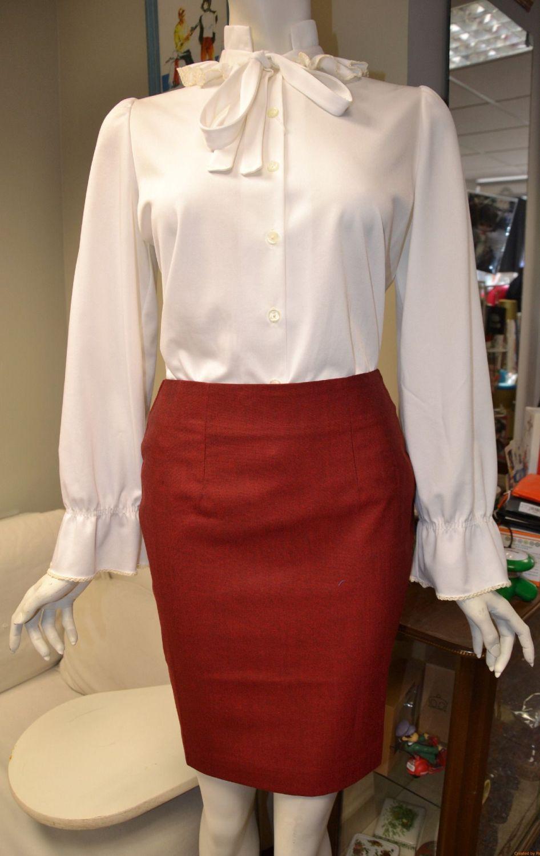 Burgundy Tonic Skirt
