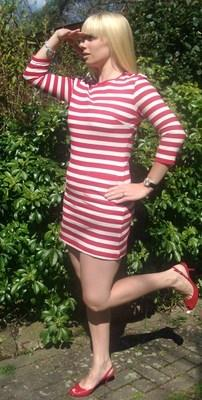 POP Red & White Stripe dress