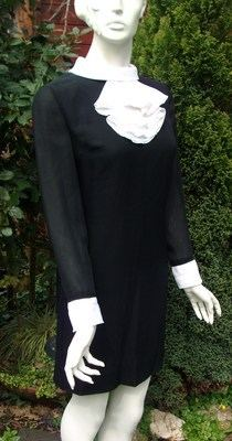 1960's Black & White Dress