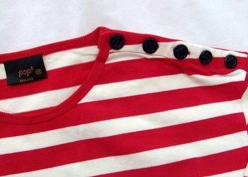 Breton red white stripe t-shirt