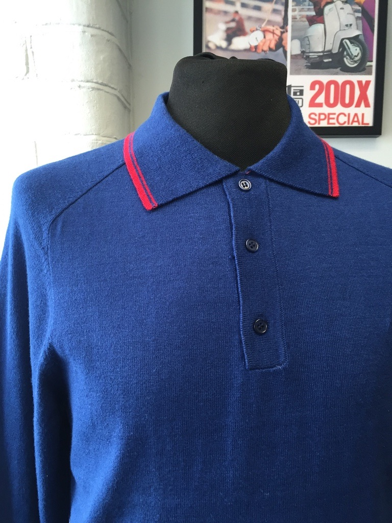Blue Knitwear Polo