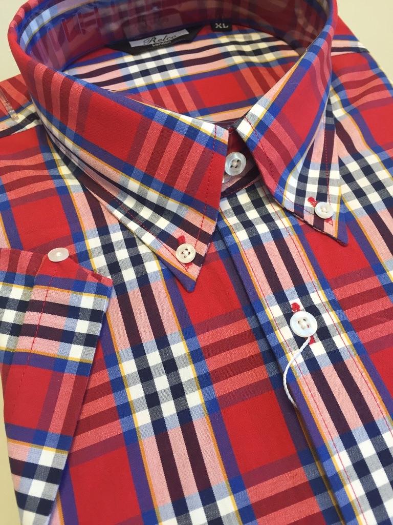 Red Blue Check Shirt