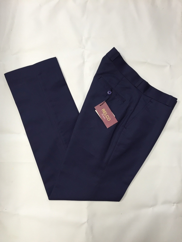 Navy Sta Prest Trousers