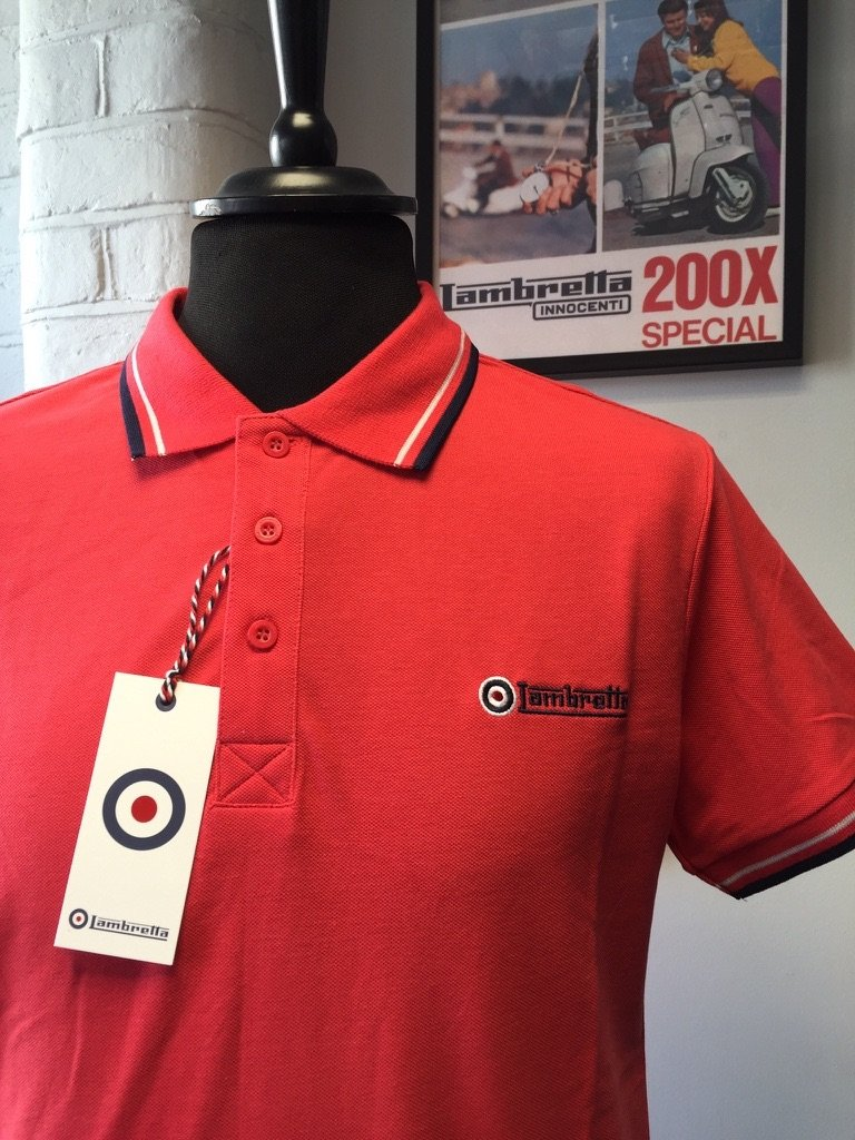 Lambretta Red Polo Shirt