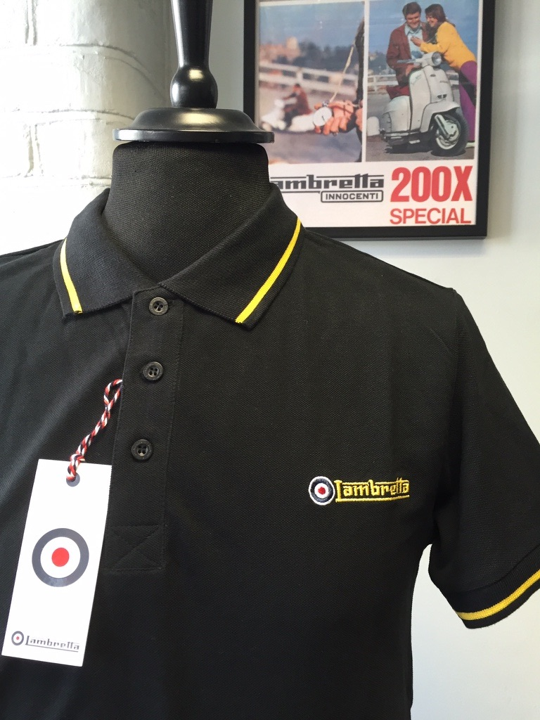 Lambretta Black Polo