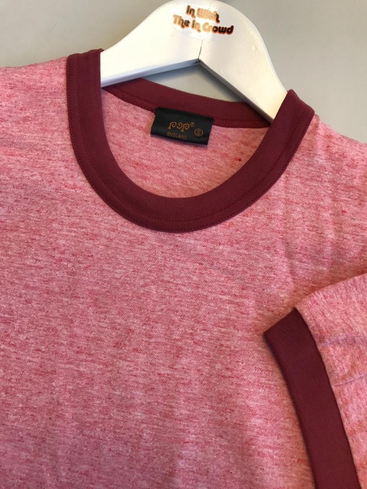 Burgundy Ringer T-Shirt