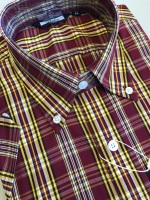 Burgundy Check Shirt W