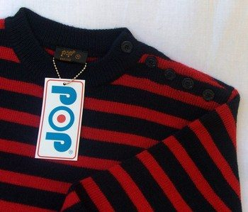 Breton Knit Blue Red