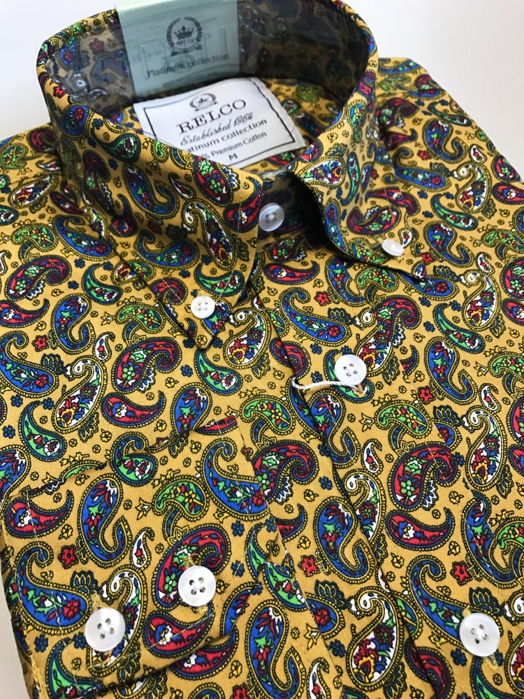 Mustard Paisley Shirt