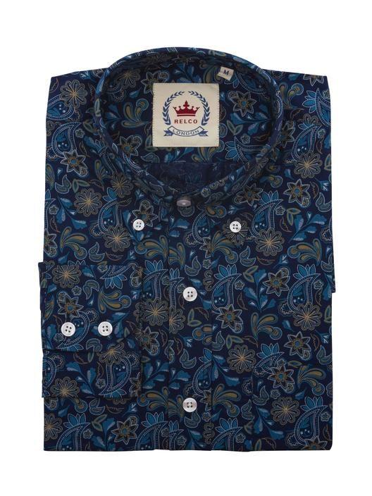 Blue Paisley Shirt