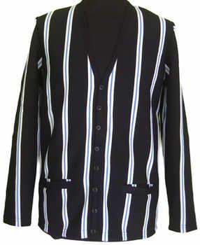 POP Black Striped Cardigan