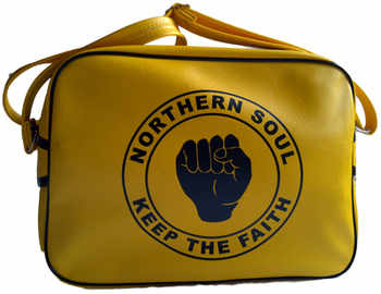 Northern Soul Yellow Airline Bag