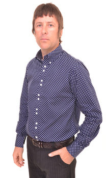 Navy Blue Polka Dot 'Kinks' Shirt