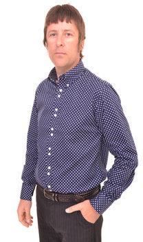 Navy Blue Polka Dot 'Kinks' Shirt
