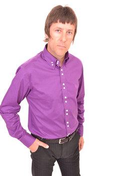 Purple Double Collar Shirt