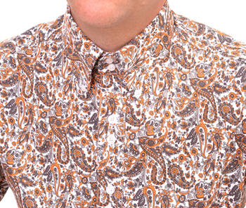 Orange Paisley Shirt CU
