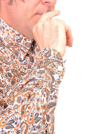 Orange Paisley Shirt Cuff