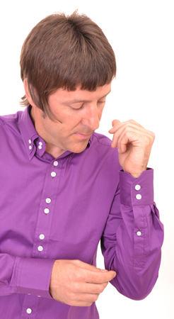 Purple Double Collar Shirt Cuff