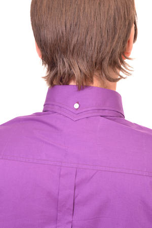 Purple Double Collar Shirt Back