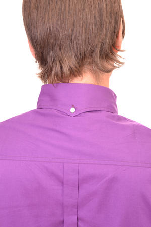 Purple Single Collar Shirt Back