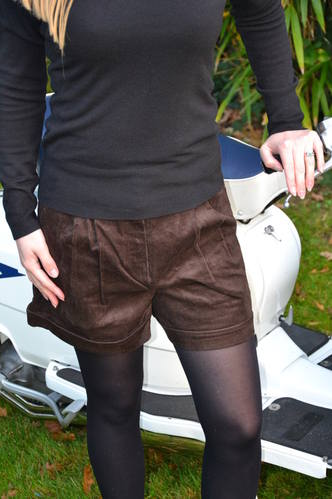 Brown Cord Shorts CU