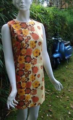 POP floral vintage 60's dress