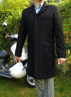 Merc Navy Overcoat