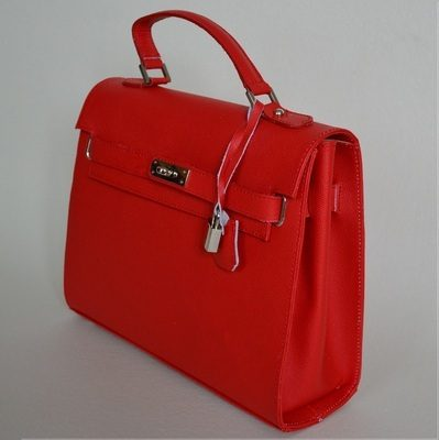 Red Leather Bag 'Anna'