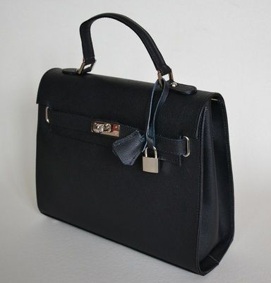 Black Leather Bag 'Anna'