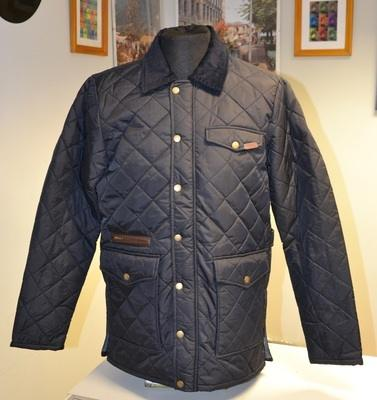 Merc Navy Quilted Jacket