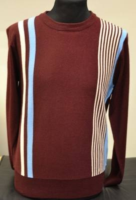 Burgundy Stripe Jumper