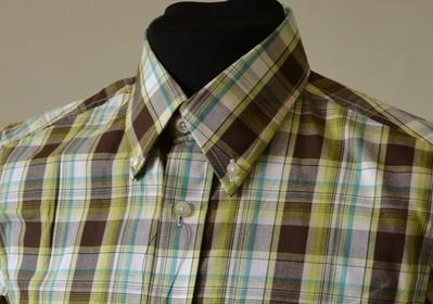 Green Check shirt CU