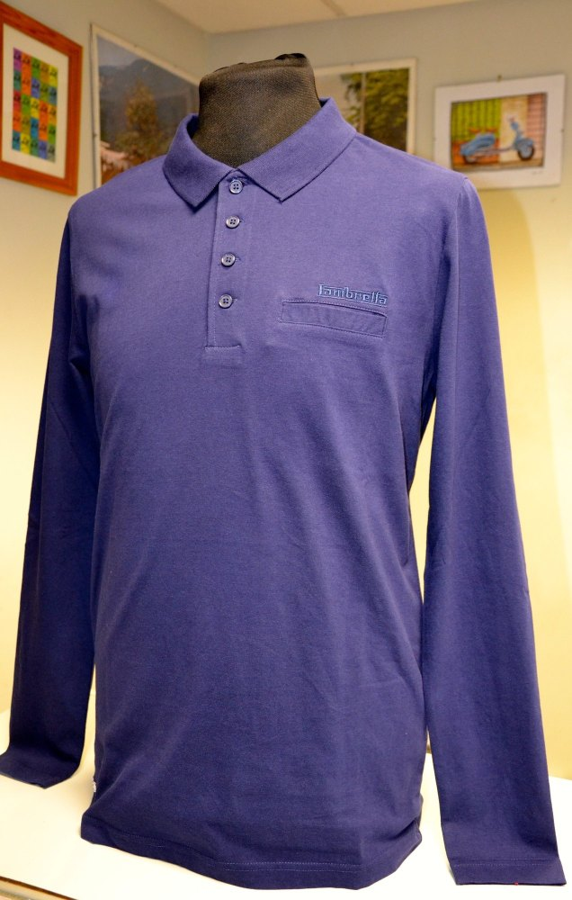 Lambretta Long Sleeve Polo Navy