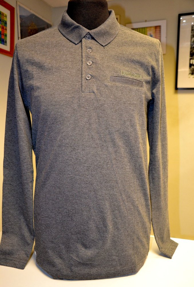 Lambretta Long Sleeve Polo Grey
