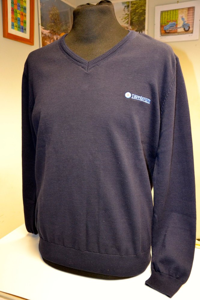 Lambretta Navy V Neck