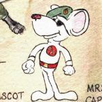 RM Mouse Mascot detail from an illustrated map.