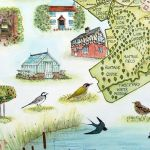Commissioned for the Earl of Clarenden - detail of map - Holywell Estate