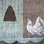 Dove on a Dovecote - mixed media