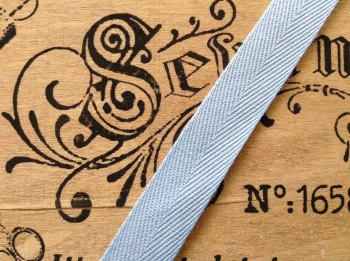 25mm Light Blue Herringbone Tape Apron Ties Bags Webbing