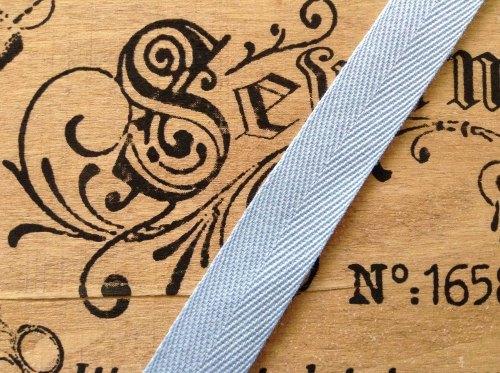 25mm Light Blue Herringbone Tape Apron Ties Bags Webbing