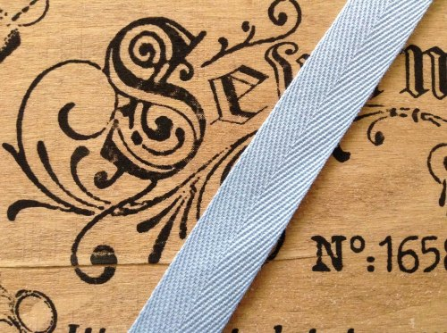 25mm Blue Tape Woven Herringbone Baby Blue Sold Per Half Metre
