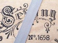 1 Inch Grey Apron Tape Woven Herringbone Webbing Half Metre
