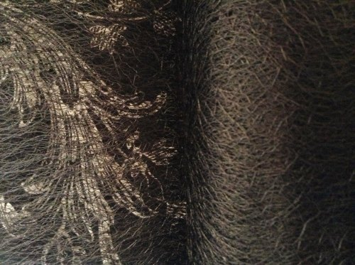 Spiders Web Net Sold Per Half Metre Gothic Black Colour